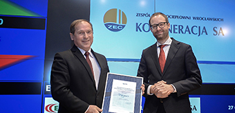 KOGENERACJA S.A. among the socially responsible companies: member of the Respect Index