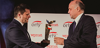"KOGENERACJA awarded by Eagle statuette of ""Wprost"" magazine for the Leader of Region in business area"